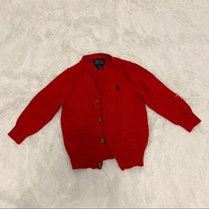 Polo Ralph Lauren boy patched elbow cardigan